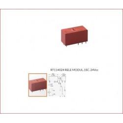 Rele' Miniatura 24v 1sc. 12a