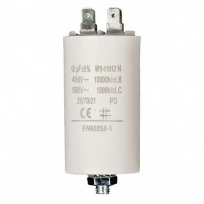 condensatore 12mf 450v +grd