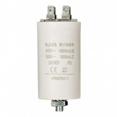 Condensatore 18mf 450v +GRD